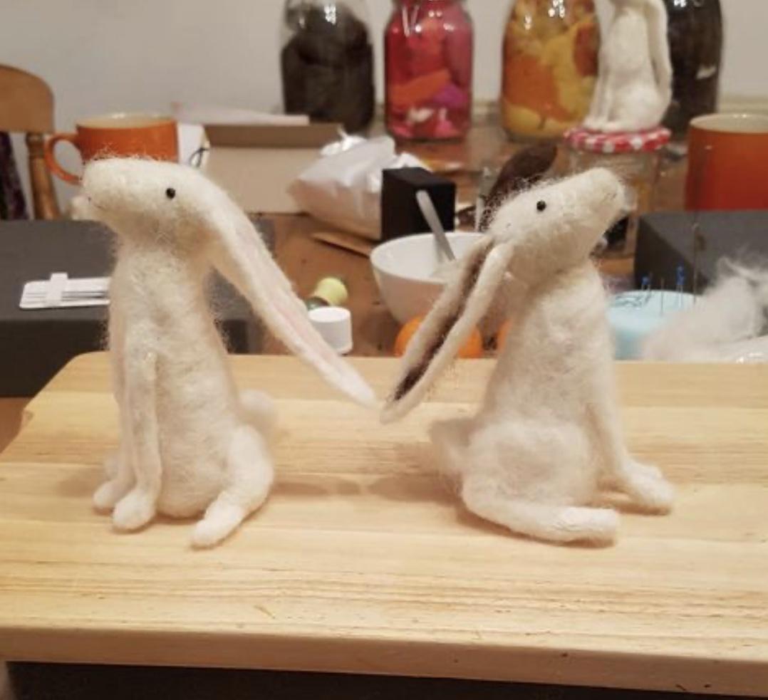 Needle Felting – Hares & Sheep
