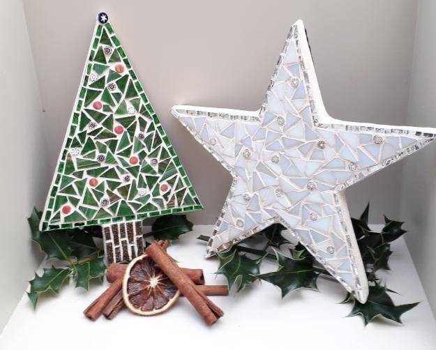 Mosaics Christmas Star / Tree – Evening